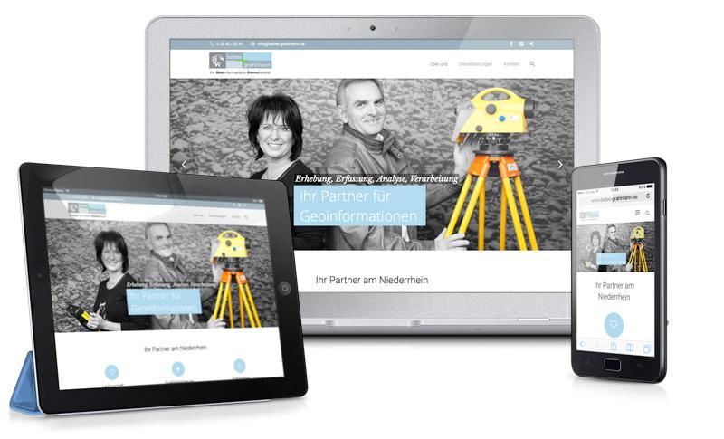 webdesign baltes grahlmann vermessungsbuero niederrhein your agentcy werbeagentur